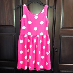 Girls Hot Pink Summer Dress